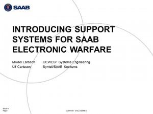 Saab EDS presentation poster